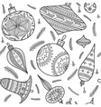 christmas baubles seamless pattern vector image vector image
