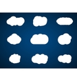 Clouds collection on blue background vector image