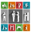 Delivery icons white vector image vector image