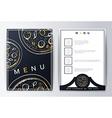Design menu Menu food vector image vector image