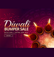 diwali sale with diya decoration vector image vector image