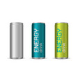 energy drink cans vector image