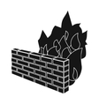 Firewall icon in black style isolated on white vector image vector image