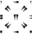 flippers pattern seamless black vector image vector image