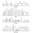 florence dubai new york and istanbul vector image vector image