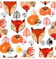 fox pattern vector image