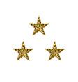 golden shiny stars vector image vector image