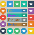 Graduation cap icon sign Set of twenty colored vector image