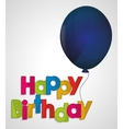 happy birthday ed letter blue balloon vector image vector image