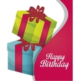 happy birthday gift isolated icon design vector image vector image