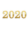 happy new year number 2020 gold 3d number 2020 vector image vector image