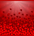 heart confetti valentines day background vector image vector image