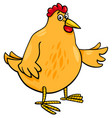 hen animal character cartoon vector image vector image
