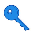 house key line icon vector image