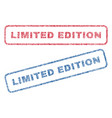 limited edition textile stamps vector image vector image