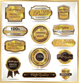 Luxury golden labels vector image vector image