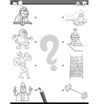 match elements coloring book vector image vector image