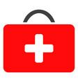 medical case flat icon symbol vector image
