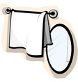 mirror and wash cloth vector image vector image