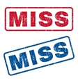 Miss Rubber Stamps vector image vector image