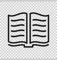 open book icon in transparent style literature on vector image vector image