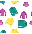 Outfits pattern cartoon style vector image vector image