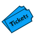 pair tickets vector image vector image