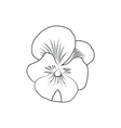 pansy flower simple black lined icon on white vector image vector image