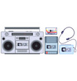 Retro tape player vintage cassette music players