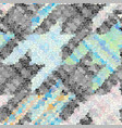 seamless grunge abstract square pattern paint vector image