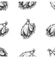 seamless pattern with black and white turkey vector image