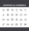 set 24 e-commerce and shopping web icons in vector image vector image