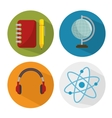 set school icons concept vector image vector image