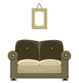 Sofa and painting vector image
