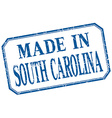 South Carolina - made in blue vintage isolated vector image vector image
