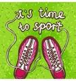 Sport Gumshoes Poster vector image vector image