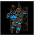 steampunk robot vector image vector image