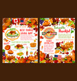 thanksgiving day autumn holiday banners vector image vector image