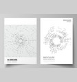 the layout of a4 format cover mockups vector image vector image