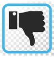 Thumb Down Icon In a Frame