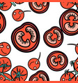 tomato and radish seamless pattern vector image vector image