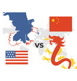 trade war concept usa versus china eagle and vector image vector image