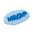 Vape word cloud icon cartoon style vector image