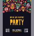 vertical festive party invitation template vector image vector image