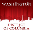Washington DC city skyline silhouette vector image vector image