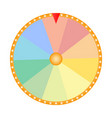 wheel fortune for prize draw on a white vector image