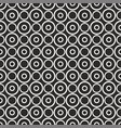 white polka dots on black background pattern vector image