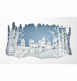 winter snow urban countryside landscape city vector image vector image