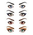 Womans eyes with make-up vector image vector image