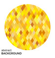 yellow circle of rhombuses vector image vector image